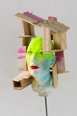 State of Mind (In House) 15x25x15cm, mixed materials