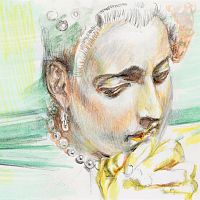 Prayer For The Remembrance Of Utopia , 21x15cm, pen on paper