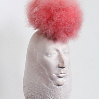 From the series 'State of Mind', plaster and swan's-down