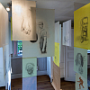 """Liminal-diff"", drawing installation, Exhibition view"" Slipvillan, Stockholm, Kenneth Pils"