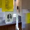 "Liminal, drawing installation, Exhibition view"" Slipvillan, Stockholm, Kenneth Pils"